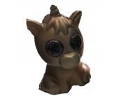 Антистрессовая игрушка сквиши Единорог мягкий гибкий (Коричневый)