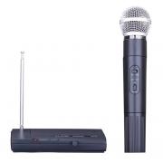 Микрофон беспроводной SH-200 (Черный с серебром)