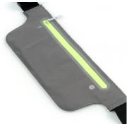 Сумка чехол на пояс для смартфона плотный материал для спорта (Серый темный)