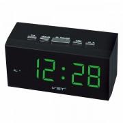 Часы сетевые VST 772-4 (Зеленый)