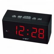 Часы сетевые говорящие VST 772-5 (Красный)