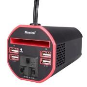 Автомобильный инвертор 150W с 4 USB-портами (Черный)