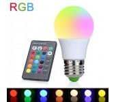 Цветная светодиодная лампа LED RGB SD с пультом дистационного управления 12 цветов (Белый)