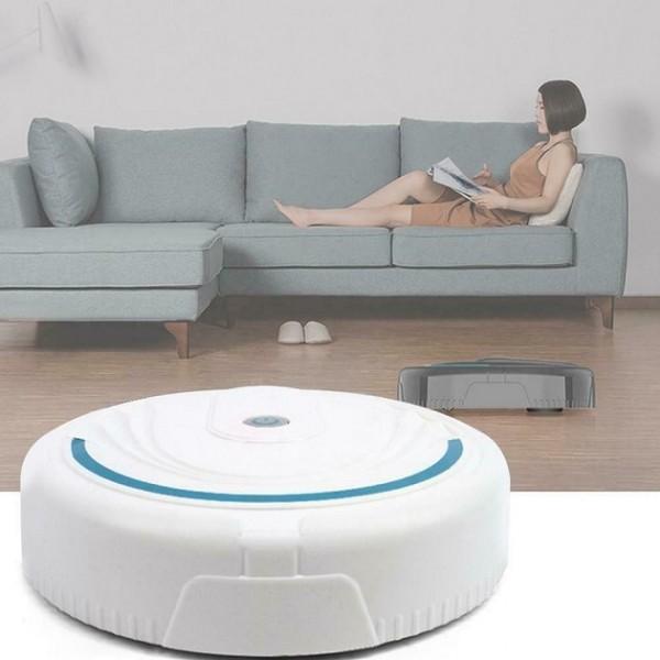 Робот-пылесос Робот Вакуум с аккумулятором (Белый)
