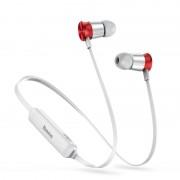 Беспроводные наушники Baseus S07 Encok Sports Wireless Earphone NGS07-S9 (Серебро с красным)