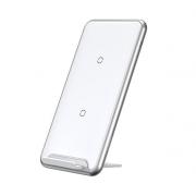 Беспроводное зарядное устройство Baseus Three-coil Wireless Charging Pad WXHSD-B02 (Белый)