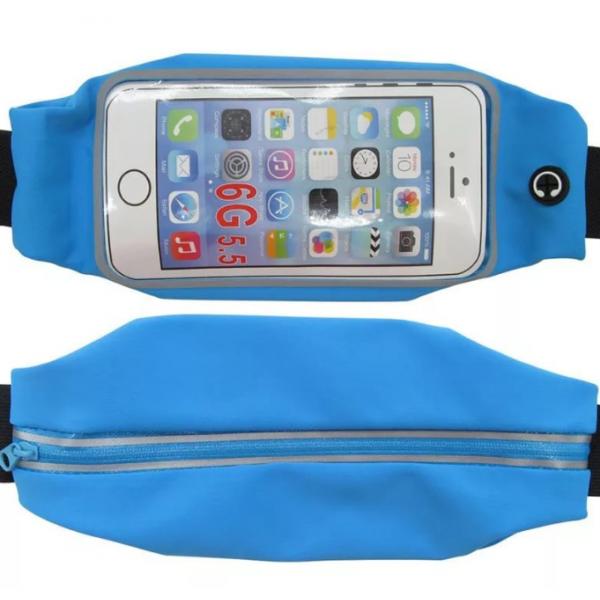 Сумка чехол на пояс для смартфона (Голубой)