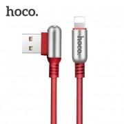 Кабель Hoco U17 Lightning Capsule Charging Data Cable (Красный)