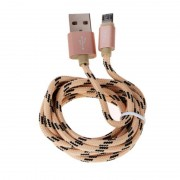 Кабель Hoco u6 micro sided plug charging cable (Золотой)