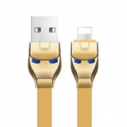 Кабель Hoco U14 Steel man Charging Cable Premium Lightning (Золотой)