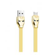 Кабель Hoco U14 Steel man Charging Cable Premium Micro USB (Золотой)