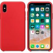 Чехол-накладка для Apple Silicone Case для iPhone X iPhone XS (Красный)