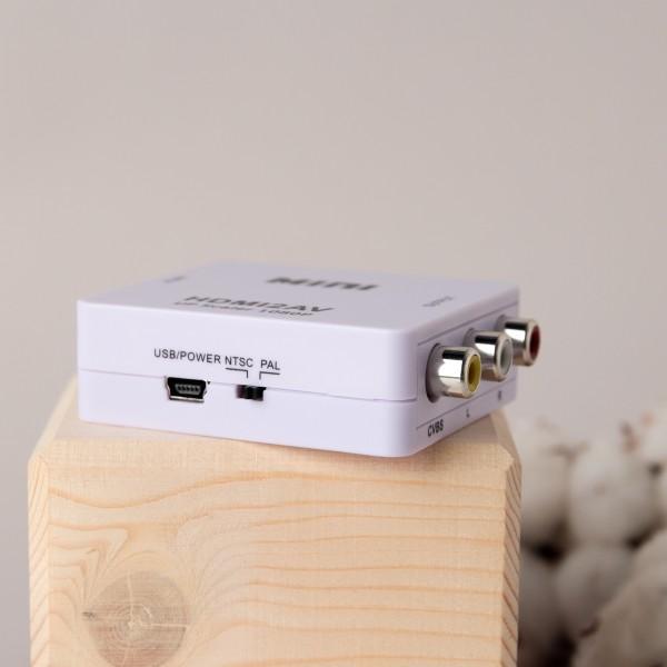 Конвертер HDMI на AV и аудио, HDMI 2 AV для монитора, CVBS, PAL NTSC белый черный