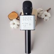 Микрофон Караоке со встроенным динамиком Q9 Беспроводной Bluetooth (Черный)