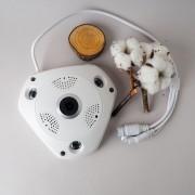 Панорамная мини-беспроводная IP-камера WiFi 360 градусов, 3D, 2 мп (Белый)