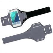 Спортивный чехол для смартфона на руку универсальный 5,5 - 6 дюймов водонепроницаемый (Темно серый)