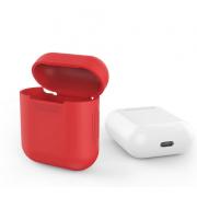 Силиконовый противоударный защитный чехол для наушников (Красный)