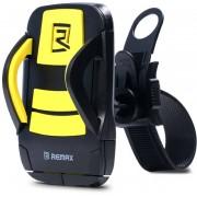 Вело-мото держатель Remax Phone Holder for Bicycle RM-C08 (Черный с желтым)