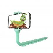 Держатель для телефона Clip Cute Worm Lazy Holder (Зеленый)