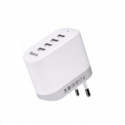 Универсальное зарядное сетевое устройство на 4 USB Hoco C19 Doma Four Port Charger (Белый)