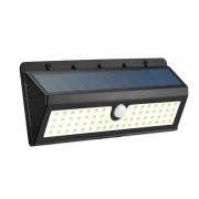 Настенный уличный LED светильник на солнечных батареях с датчиком движения (Черный)