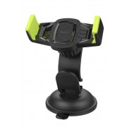 Автодержатель для смартфона Hoco CA40 Refined suction cup base in-car dashboard phone holder (Черный с желтым)