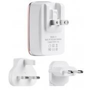 Универсальная зарядка с дополнительными штекерами HOCO C4 Doule USB Travel Charger (Белый)