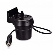 Многофункциональный автомобильный адаптер Hoco UC207 Multifunctional cup shape car charger (Черный)