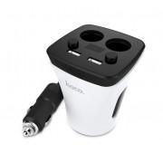Автомобильное зарядное устройство HOCO Z11 Multi-function digital display cup charger (Чашка кофе белая)