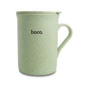 Чашка с крышкой HOCO CP3 Wheat tea cup with cap lid (Светло-зеленая)