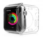 Защитный чехол для Apple Watch Transparent Crystal Clear Case (Прозрачный силикон 38мм)