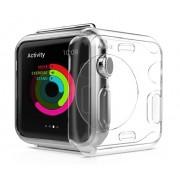 Защитный чехол для Apple Watch Transparent Crystal Clear Case (Прозрачный силикон 42мм)