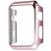 Защитный чехол для Apple Watch HOCO 2 PC cover (Розово-золотой 38мм)
