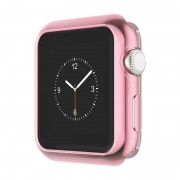 Защитный чехол для Apple Watch HOCO Series 2 electroplated tpu cover (Розово-золотой 38мм)