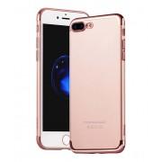 Чехол HOCO Glint series electroplated TPU cover for iPhone 7 plus iPhone 8 plus (Розово-золотой)