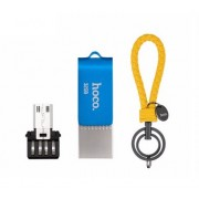 Флеш-накопитель Hoco flash UD3 U key Type-C, Micro, 32 Gb (Голубой)