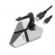 USB хаб HOCO HB2 Scorpio 3USB hub (Серебряный)
