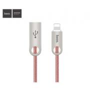 Кабель Hoco U8 Zinc Alloy Metal Lightning, 1 m (Розовое золото)