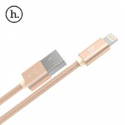 Кабель Hoco X2 knitted Charging cable for Apple (Золотой)