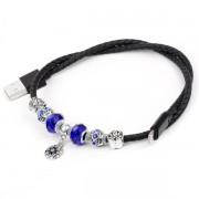 Кабель Hoco U7 Pandora Bracelet Design Lightning USB (Черный)