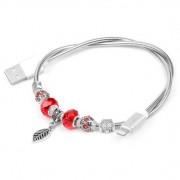 Кабель Hoco U7 Pandora Bracelet Design Lightning USB (Серебряный)