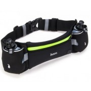 Спортивная сумка на пояс Hoco Multifunction double kettle Movement Pockets Training (Черная M)