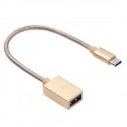 Кабель Hoco UA3 Type-C USB Patch Cord, 20cм (Золотой)
