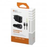 Interstep Набор RT Автомобильное зарядное устройство + Сетевое зарядное устройство + Кабель microUSB