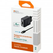 Interstep Зарядное устройство от сети RT:1USB + USB TypeC 2А +Quick Charge 5/9/12V