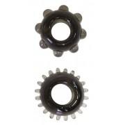 Набор из 2 эрекционных черных колец, черный