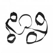 Черный фиксатор для запястий и лодыжек на липучках, черный