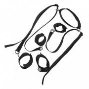 Комплект фиксаторов ног и рук с ошейником черного цвета, черный