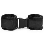 Черные мягкие наручники на липучке, черный