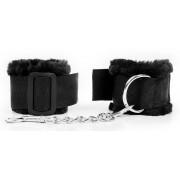 Черные наручники на регулируемых пряжках, черный